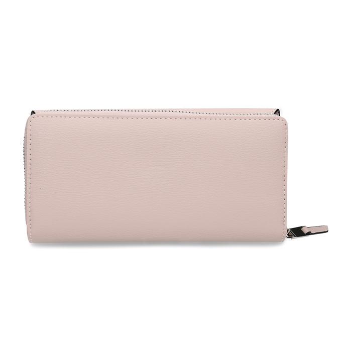 Růžová dámská peněženka s klopou bata, růžová, 941-5112 - 16
