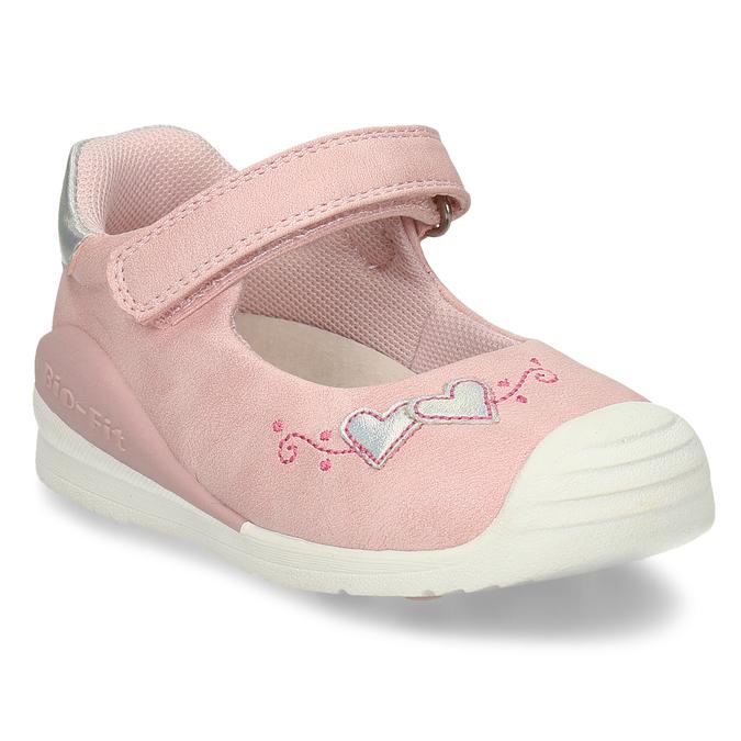 Růžové dívčí sandály se srdíčky bubblegummers, růžová, 121-5601 - 13