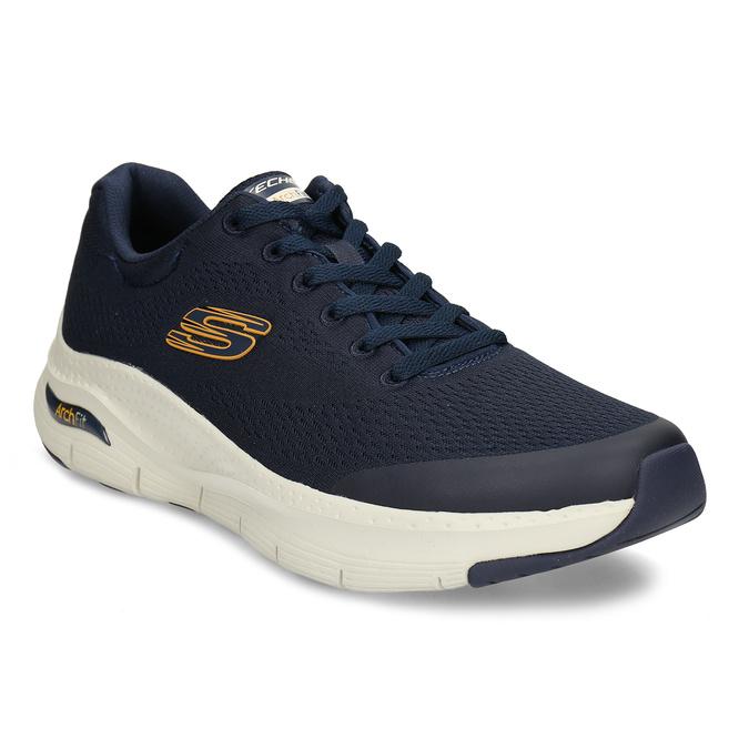 Modré pánské sportovní tenisky skechers, modrá, 809-9121 - 13