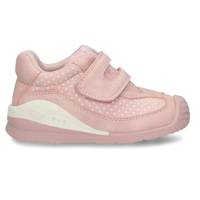 Růžové dívčí tenisky na suchý zip bubblegummers, růžová, 121-5602 - 19