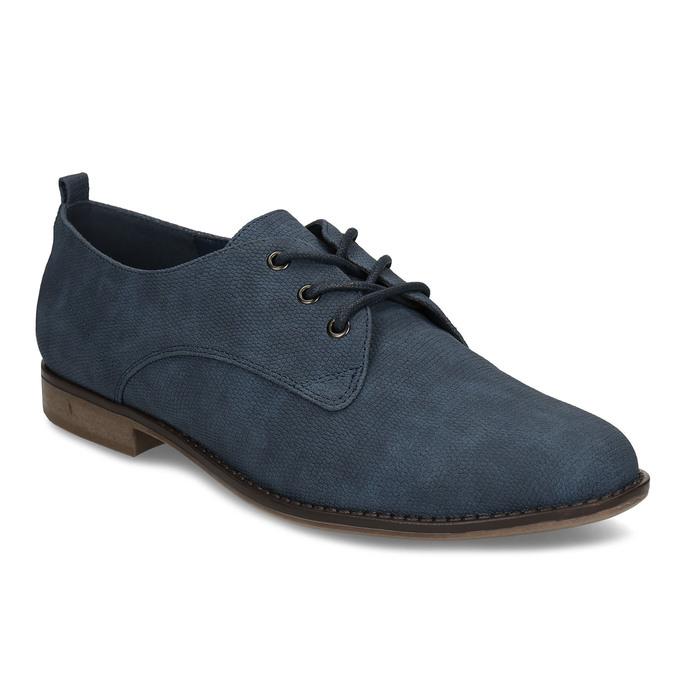 Modré dámské polobotky bata, modrá, 521-9603 - 13