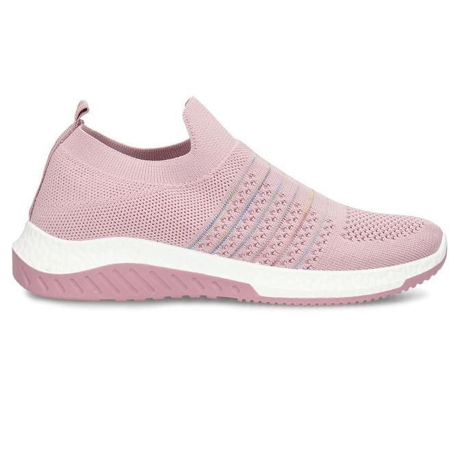 Růžové dámské odlehčené sportovní slip-on tenisky bata-light, růžová, 529-5604 - 19