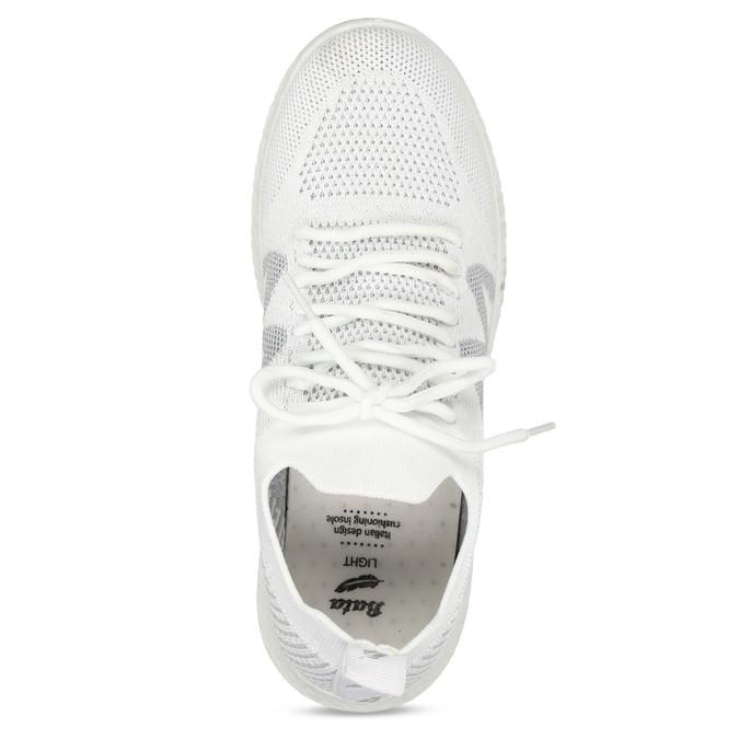 Bílé dámské odlehčené sportovní tenisky bata-light, bílá, 529-1600 - 17