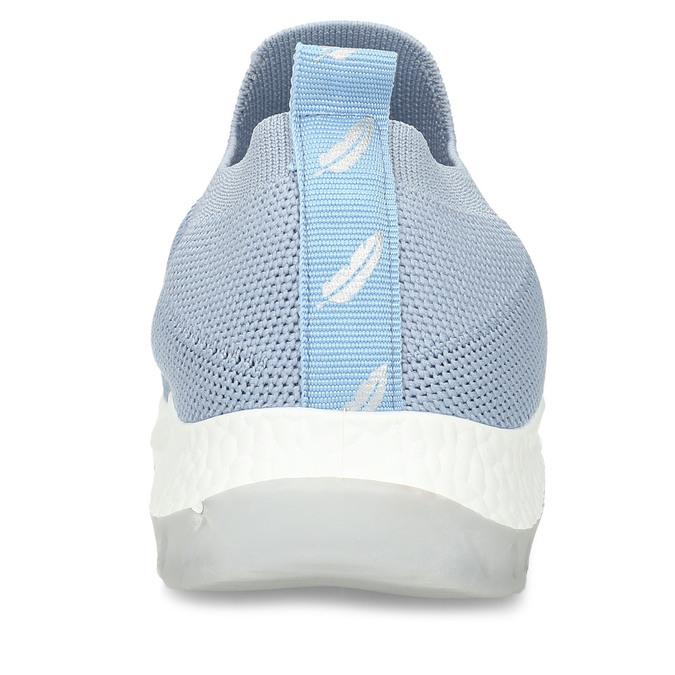 Modré dámské odlehčené slip-on tenisky bata-light, modrá, 529-9604 - 15