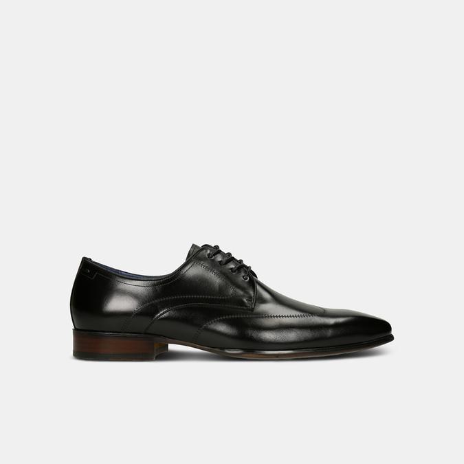 Černé pánské kožené polobotky v derby stylu bata, černá, 824-6708 - 13