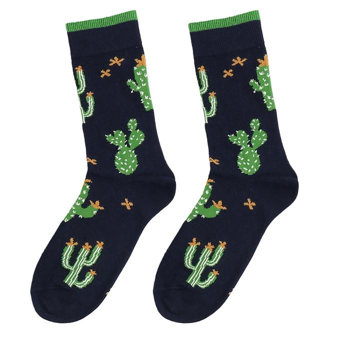 Modré pánské ponožky s kaktusy bata, modrá, 919-9638 - 16