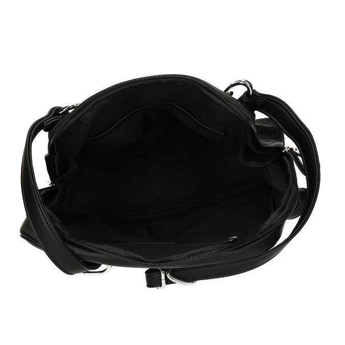 Černý dámský městský batoh bata, černá, 960-6653 - 15