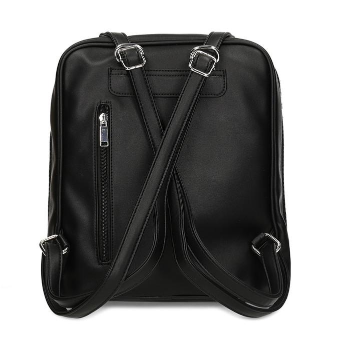 Černý dámský městský batoh bata, černá, 960-6653 - 16