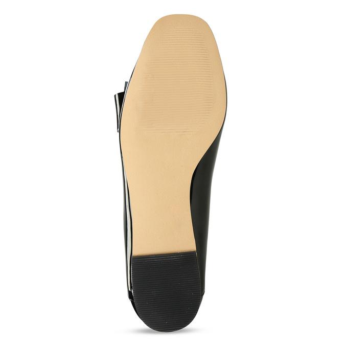 Černé dámské lakované baleríny s mašlí bata, černá, 521-6614 - 18