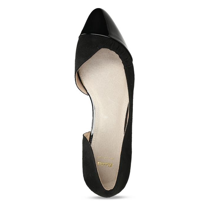 Černé dámské baleríny s asymetrickým střihem bata, černá, 529-6603 - 17