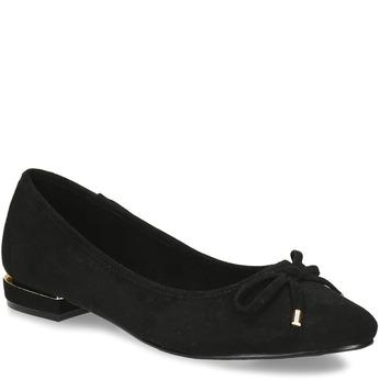 Černé baleríny s ostrou špicí bata, černá, 529-6607 - 13