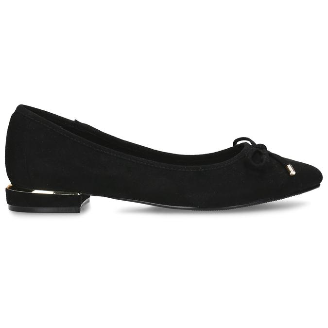 Černé baleríny s ostrou špicí bata, černá, 529-6607 - 19