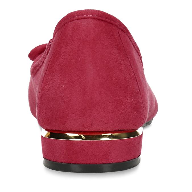 Červené dámské baleríny s mašlí bata, červená, 529-5607 - 15