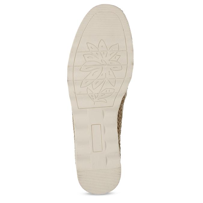 Béžové dámské espadrilky s bílou podešví bata, béžová, 541-8600 - 18