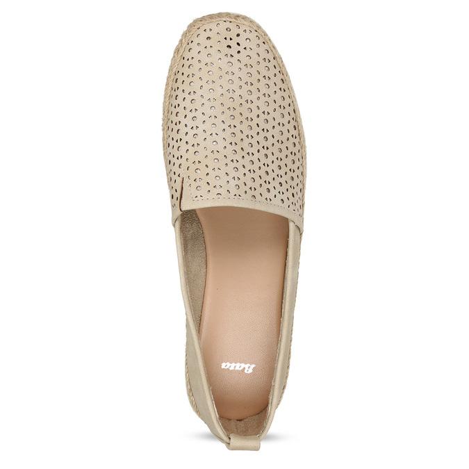 Béžové dámské espadrilky s bílou podešví bata, béžová, 541-8600 - 17