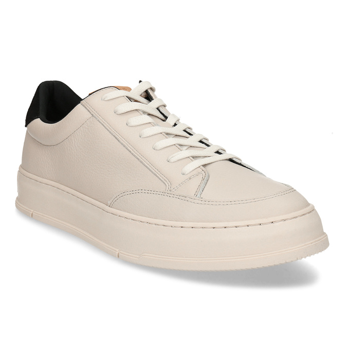 Bílé kožené pánské městské tenisky vagabond, bílá, 844-1604 - 13