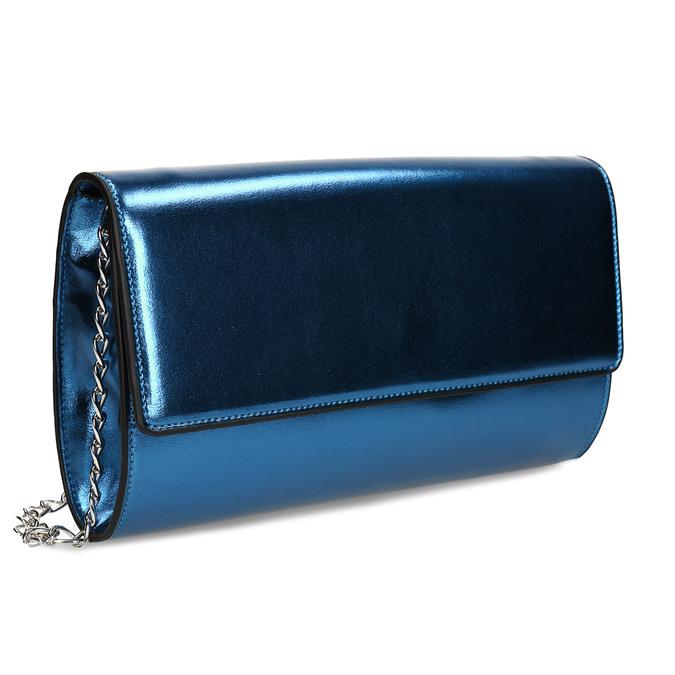 Modrá dámská metalická kabelka bata, modrá, 961-9643 - 13