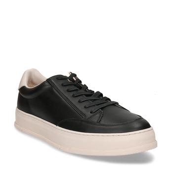 Černé kožené pánské tenisky vagabond, černá, 844-6604 - 13