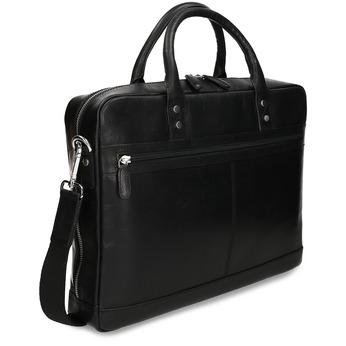 Kožená pánská černá taška na notebook bata, černá, 964-6650 - 13