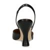 Černé dámské kožené lodičky s otevřenou patou bata, černá, 726-6600 - 15