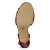 Červená dámská obuv s koženou stélkou na vysokém podpatku bata, červená, 751-5600 - 18