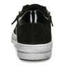 Černé dámské kožené tenisky se zipem na straně gabor, černá, 543-6600 - 15