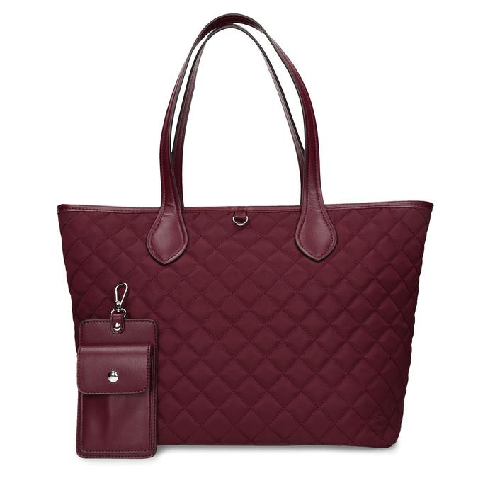 Bordó dámská větší kabelka s klíčenkou bata, červená, 961-5615 - 26
