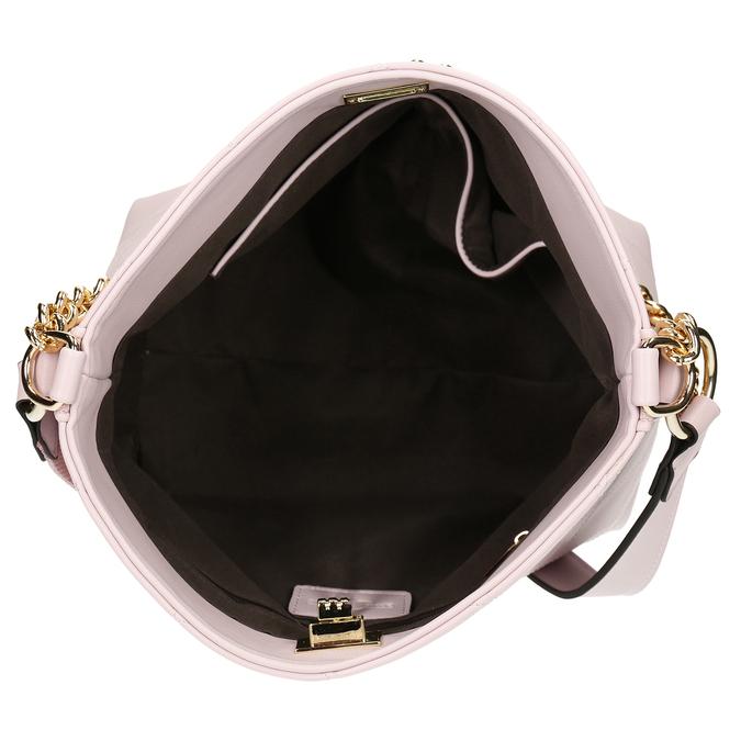 Růžová dámská kabelka se zlatým řetízkem bata, růžová, 961-5625 - 15