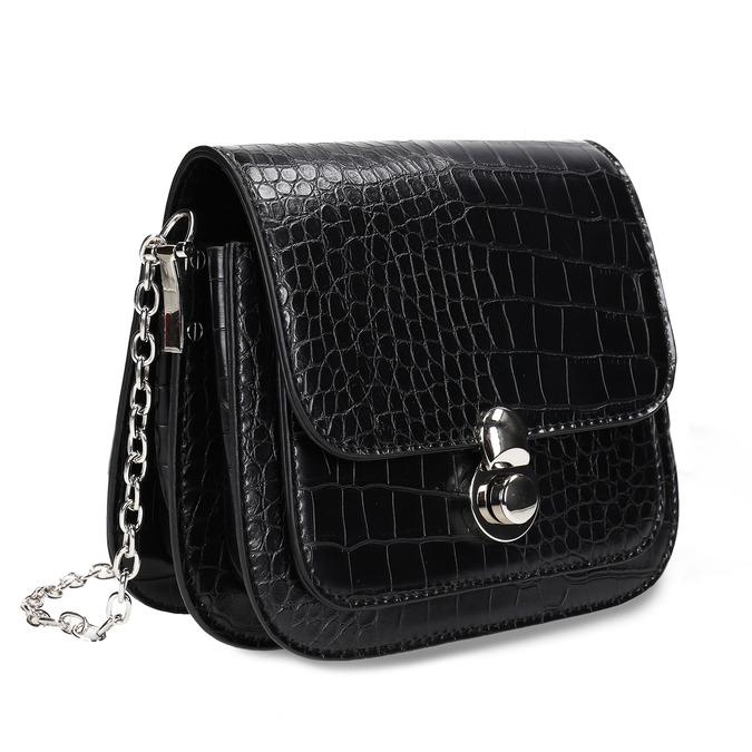 Černá dámská koženková kabelka bata, černá, 960-6679 - 13