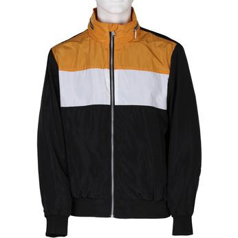 Černá pánská sportovní bunda s oranžovým a bílým pruhem bata, černá, 979-6596 - 13