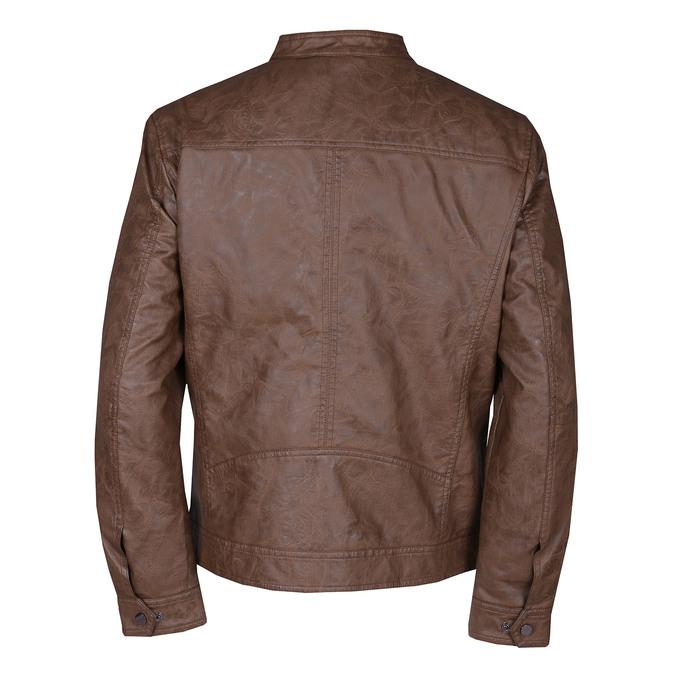 Hnědá pánská koženková bunda se zipem bata, hnědá, 971-3288 - 26