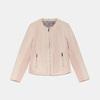 Světle růžová dámská koženková bunda na zip bata, růžová, 971-5281 - 13