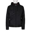 Černá pánská koženková bunda s kapucí bata, černá, 971-6291 - 13