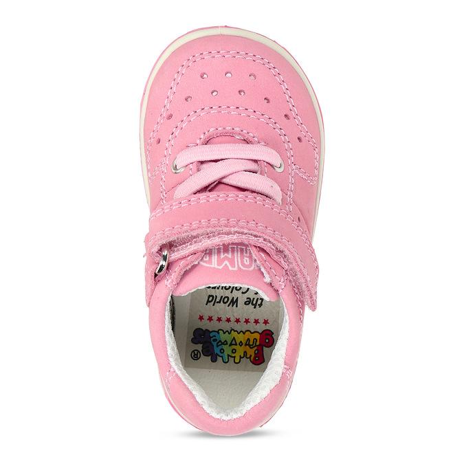 Růžové dětské kožené tenisky bubblegummers, růžová, 124-5604 - 17