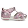 Lesklé růžové dívčí sandály s kytičkami bubblegummers, růžová, 161-5603 - 19