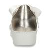 Krémové dámské tenisky na vysoké podešvi hogl, bílá, 544-1612 - 15