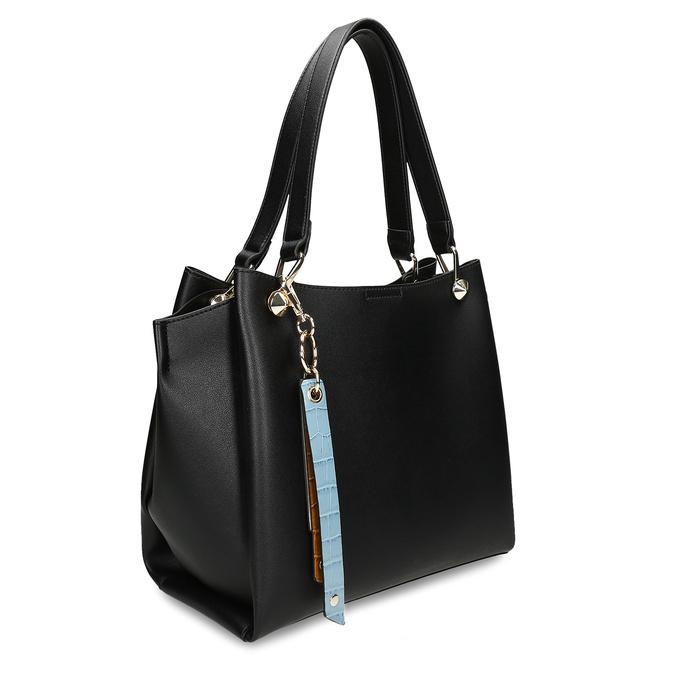 Černá dámská koženková kabelka střední velikosti bata, černá, 960-6624 - 13
