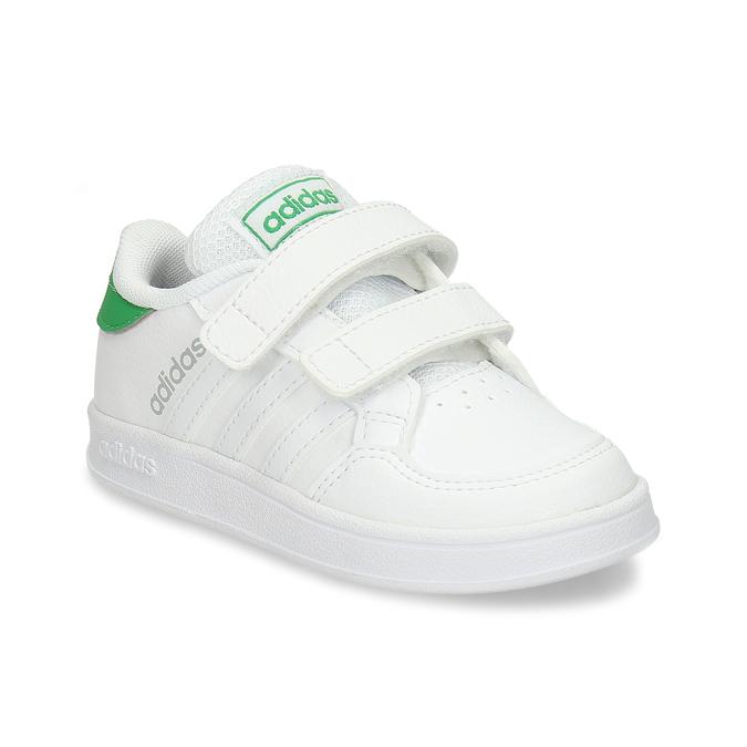 Bílé dětské tenisky se zelenými prvky adidas, bílá, 101-1731 - 13