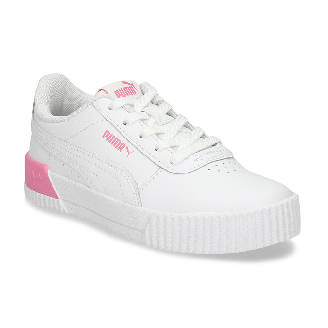 Bílé dětské tenisky se růžovými prvky puma, bílá, 301-1107 - 13