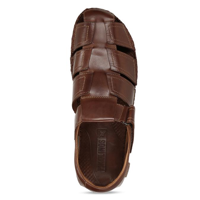 Hnědé pánské kožené sandály pikolinos, hnědá, 864-4612 - 17