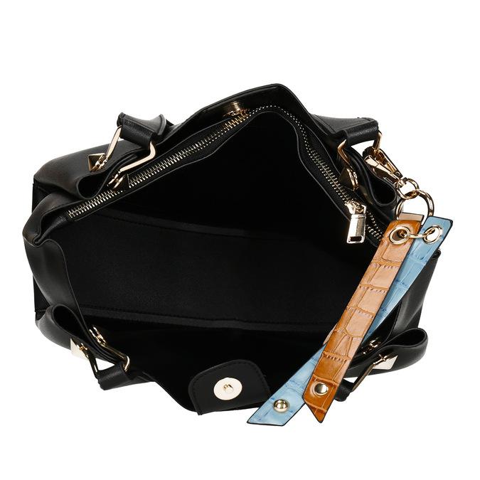 Černá dámská koženková kabelka střední velikosti bata, černá, 960-6624 - 15