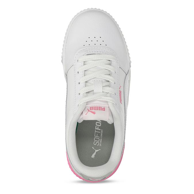 Bílé dětské tenisky se růžovými prvky puma, bílá, 301-1107 - 17
