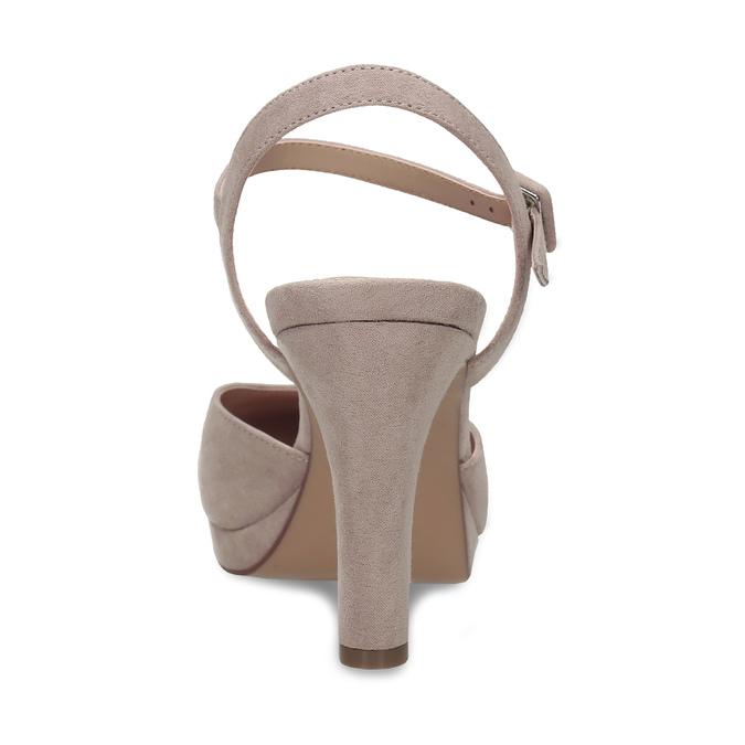 Béžové dámské lodičky na vysokém podpatku bata, béžová, 729-8602 - 15
