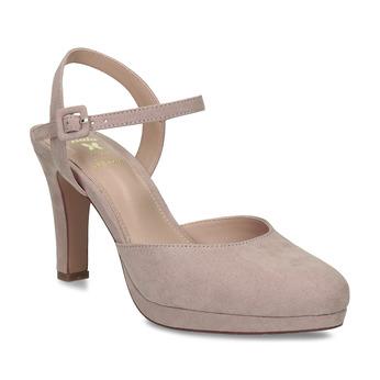 Béžové dámské lodičky na vysokém podpatku bata, béžová, 729-8602 - 13