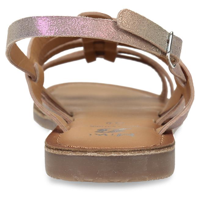 Neonové dívčí kožené sandály mini-b, vícebarevné, 365-4698 - 15