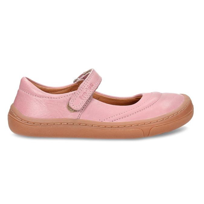 Růžové dětské kožené sandály s uzavřenou špičkou froddo, růžová, 224-5612 - 19