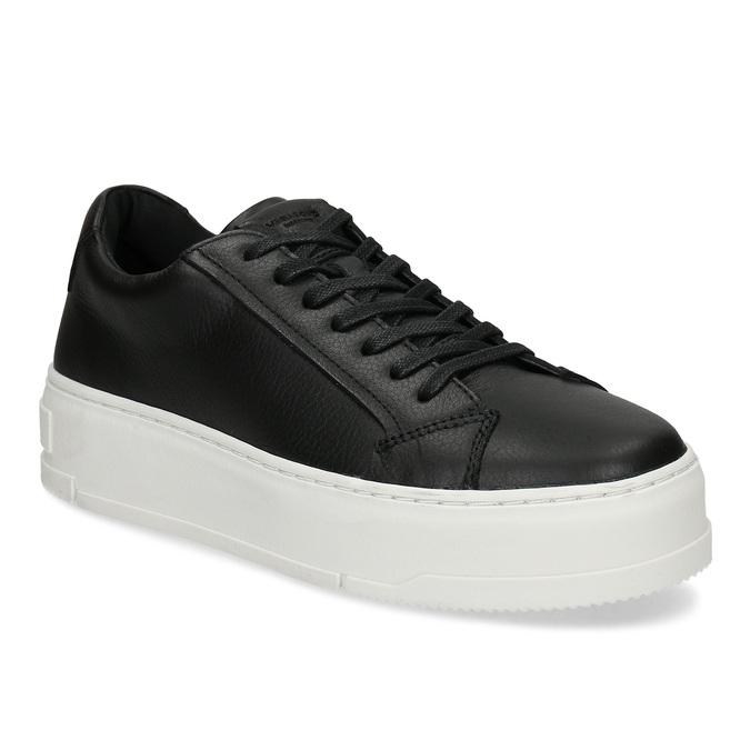 Černé kožené dámské tenisky vagabond, černá, 544-6624 - 13
