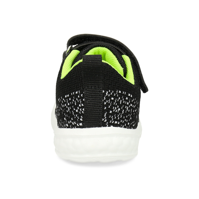 Černé dětské tenisky s pleteným svrškem bubblegummers, černá, 119-2660 - 15