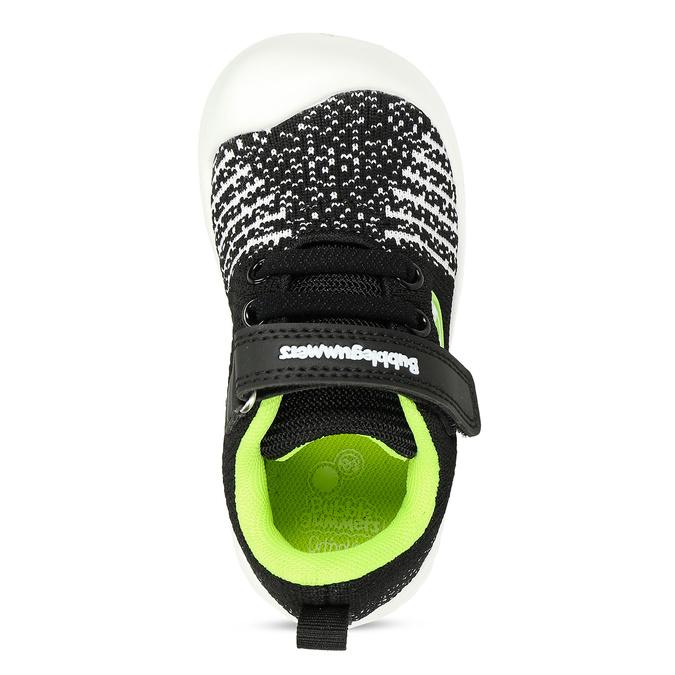 Černé dětské tenisky s pleteným svrškem bubblegummers, černá, 119-2660 - 17