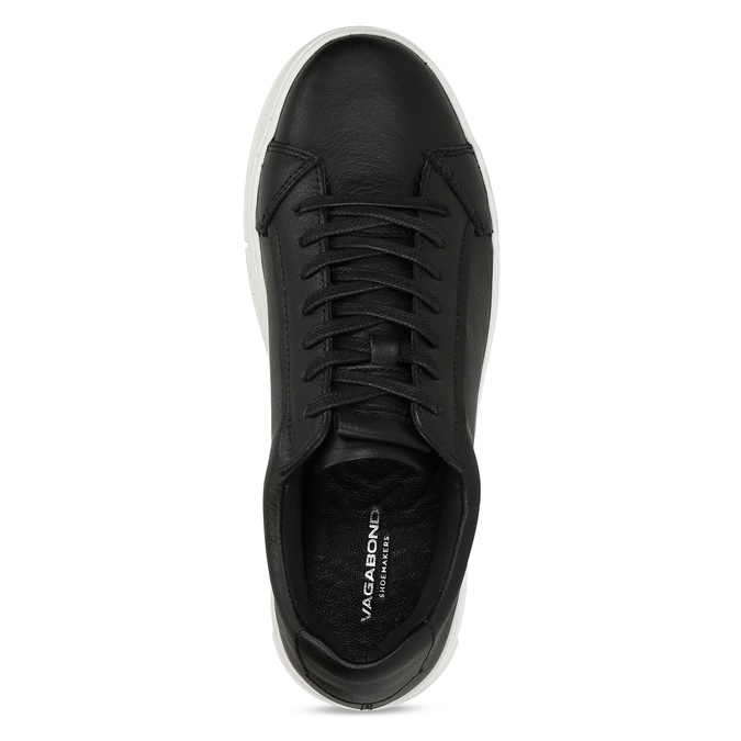 Černé kožené dámské tenisky vagabond, černá, 544-6624 - 17